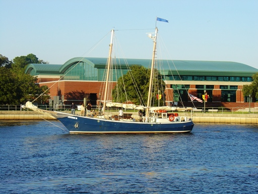 The New Bern Convention Center is located on the Trent River